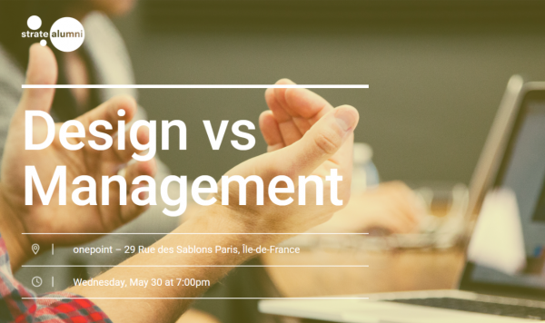 Design vs Management ! RDV le 30 Mai chez onepoint !